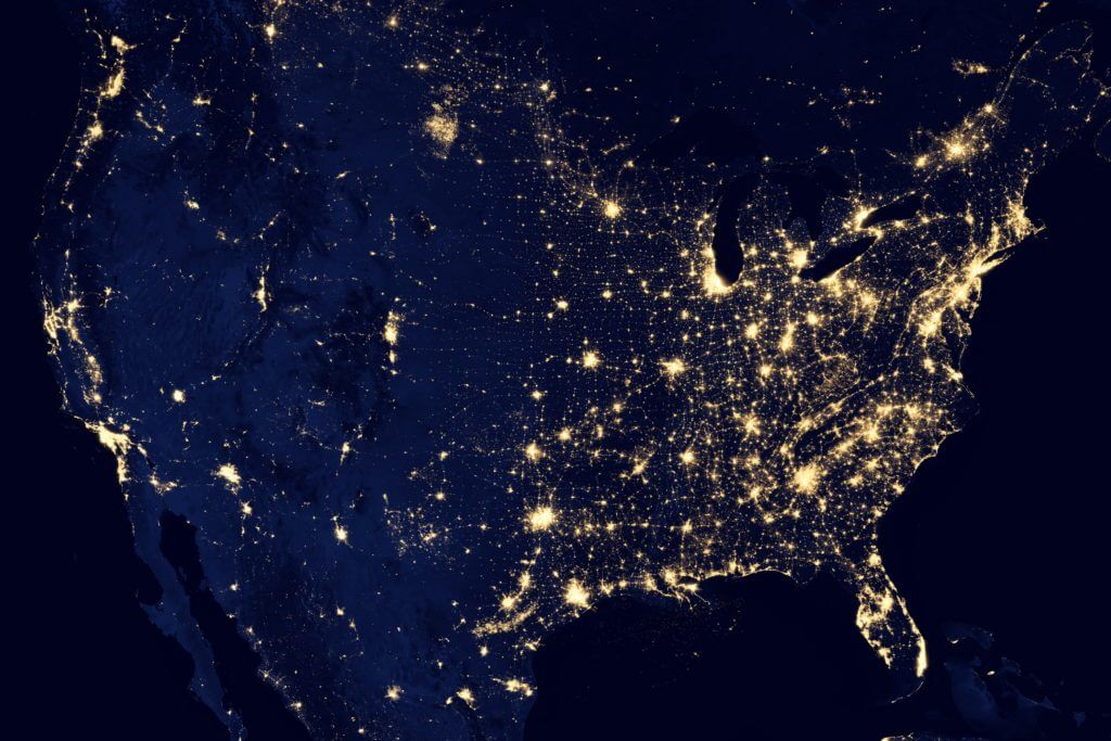 USA at Night-Time
