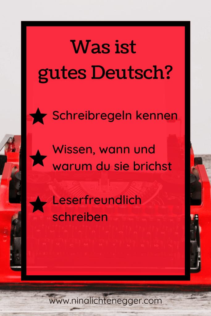 Gutes Deutsch